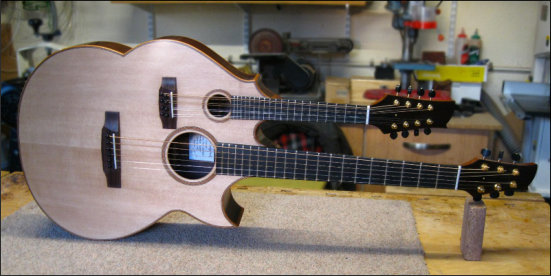 Guitar and mandolin double neck.